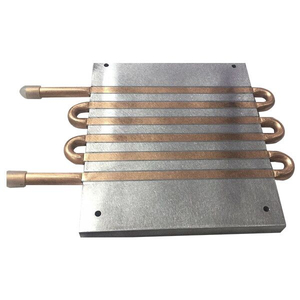 Vortex Liquid Cold Plate with 6 Pass Copper Tube